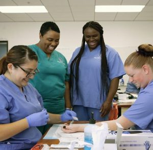 Medical Assistant Training Student